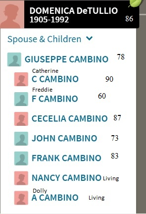 Cambino siblings with ages